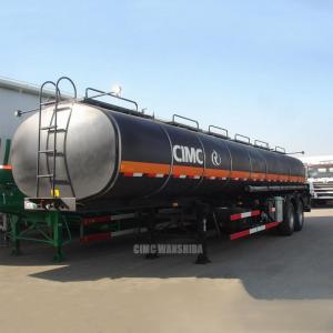 China Asphalt tanker trailer bitumen transportation tank trailer pitch tank trailer | CIMC TRAILERS on sale
