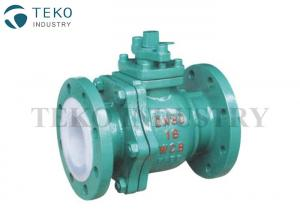 China Corrosion Resistant PTFE Lined Ball Valve Flange End For Chemical Applications on sale