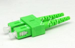 China SC DX Fiber Optic Connector Green , Fiber Optic Cable Connectors on sale
