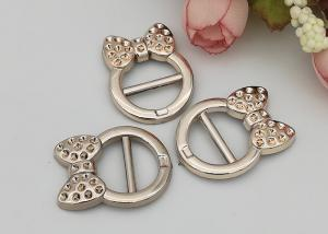 China Fashion Accessories Plastic Shoe Buckles With Bow , Decorative Shoe Buckles on sale