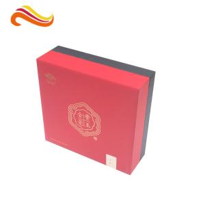 China Red PP Paper Printed Divided Packaging Boxes Lid and Base Expensive Gift Boxes on sale