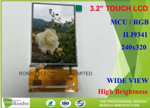 China Customized 3.2 Inch Lcd Screen MCU / RGB Interface With Resistive Touch Panel on sale