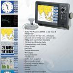 作図装置 8 インチのスクリーンの海洋図表の