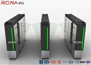 China Acrylic Flap Barrier Gate Fingerprint Rfid Card Reader Security Turnstile on sale