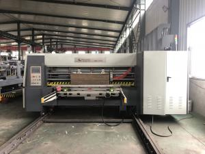 China Lead Edge Flexo Printer Slotter Die Cutter With Folder Gluer In Line / Case Maker Machine on sale
