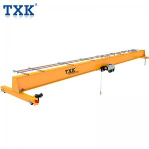 China Top Running Single Girder Overhead Bridge Crane With Fabricated Box Structure on sale