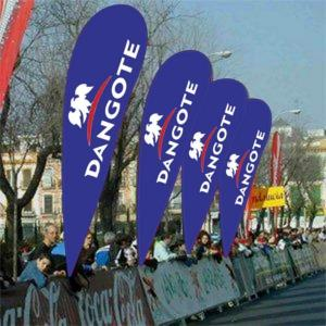 China Waterproof Advertising Banners And Flags Business Banners On Pole 300 X 500cm on sale