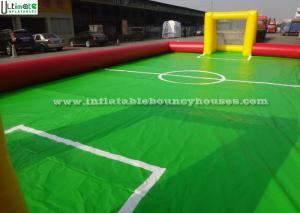 China Soap Inflatable Soccer Field For Adults Or Children Outdoor Sports on sale