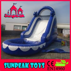 China WL-1819 Hot Selling Blue Color Dolphin Inflatable Slide For Pool on sale