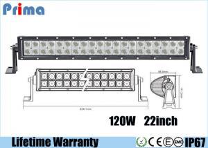 China 22 Inch 120W Led Spotlights Bar / Waterproof Dustproof Truck Led Light Bar on sale