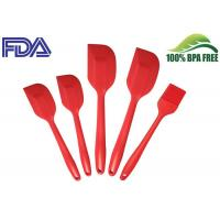 Customized Silicone Kitchen Tools Set 5 Piece , Silicone Cookware with Screen Printing Logo