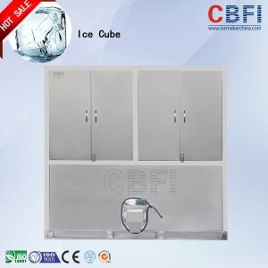 China CBFI 1 - 20 ton Stainless Steel Ice Cube Maker Machine For Food Processing factory on sale
