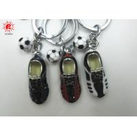 China Shoes And Foot Ball Key Chain Holder Colored Drawing Alloy Keychains For Women on sale