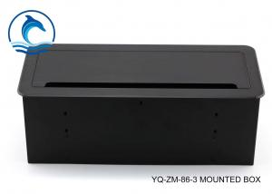 China YQ-ZM-86-3 Multicore Stage Box , Table Mounted Outlet Box For Electrical Outlet Connection on sale