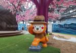 OEM / ODM Shopping Centre Decorations Advertising Fiberglass Cartoon Statue Funny