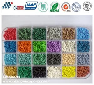 China Various Bright Colours UV Resistant  EPDM Rubber Granules on sale