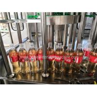 China Auto Carbonated Drink Filling Machine , Flavored Energy Drink Juice Bottling Machine on sale
