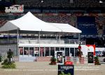 Flame Retardant 10x20m High Peak Double Decker Tent with Glass Wall for Horse Racing Event