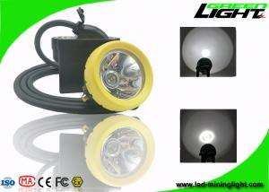 China 1.67W IP68 Miners Helmet Light 10000lux Brightness USB Charger 1 Year Warranty on sale