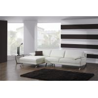 White Full Leather Modern Sectional Sofas  , Italian Leather Corner Sofa