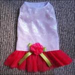Caniche, vestidos de encargo de moda del perro del mini rosa del Schnauzer con Rose