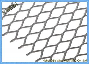 China DIN EN ISO 1461 Expanded Metal Mesh , Aluminum Expanded Metal Sheet For Stairs on sale