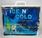 large aluminum foil material thermal insulate cooler bag,insulated jute cooler bag for delivery food cooler bag aluminiu