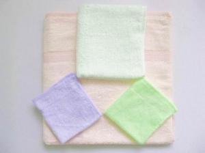 China 70% bamboofiber&30% cotton terry face towels on sale