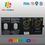 Caja de papel de empaquetado de la píldora del sexo del efecto el 100% ERECT-MEN con diseño modificado para requisitos particulares tarjeta