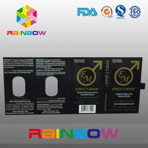 China Effect 100% ERECT-MEN Sex Pill Packaging Paper Box With Card Customized Design on sale
