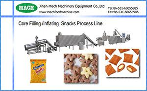 China Core filling/inflating 3D pellet snacks production line,Fried Snack Manufacturing Machine on sale
