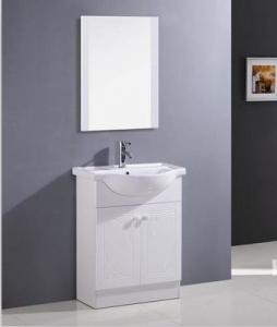 China Sanitary ware white color Ceramic Bathroom Vanity with sink 600 * 500 * 850mm on sale