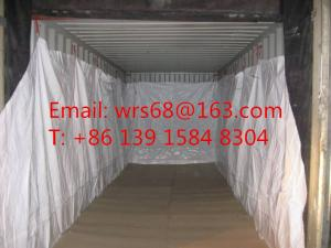 China Chemical PP woven open top 20 ft / 40 ft sea bulk liner for iron ore on sale