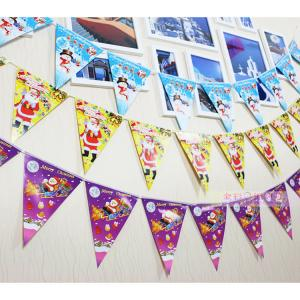 China Customized Waterproof Advertising Flag Banners , Christmas Create Custom Flag Bunting on sale