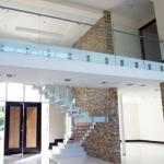 High quality stair stainless steel glass railing design,terrace railing designs