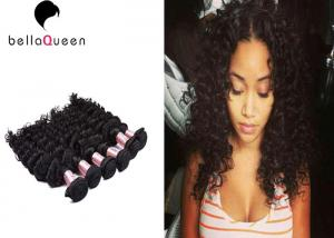 China Grade 7A Brazilian Virgin Human Hair , Natural Black Curly Weave Hair on sale