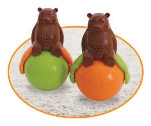 China Speakers Tumbler Toy Sound And Light Ball Bear with LED Light Sound and light on sale