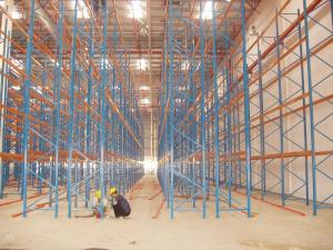 China Anti-Corrosion Narrow Aisle Pallet Racking Power Coated 100 - 5000KG on sale