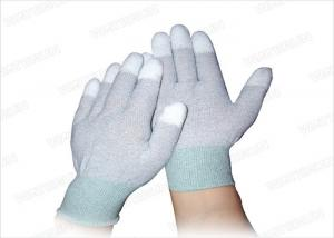 China Cleaning Room Electronic Anti Static Gloves Carbon Fiber PU Fit ESD Gloves on sale