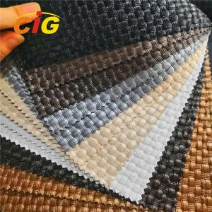 China Crystal Surface Pvc Artificial Leather High Tear Fastness For Furnitures Chairs on sale