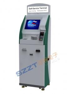 China Multi - Function Lobby Style Check-in Banking Kiosk with card dispenser ZT2405 on sale