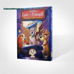 China Lady and the Tramp II Scamp's Adventure disney dvd movies cartoon movies kids movies with slip cover case drop ship on sale