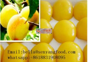 China Peach 425g/820g Yellow Peach halves/canned peach in light syrup supplier