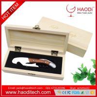 Wood Handle Stainless Steel Corkscrew Double Hinge Opener Wooden Gift Box