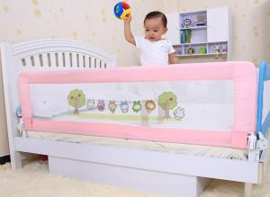2 Years Old Baby Safety Child Bed Guard Rails With Aluminum Frame