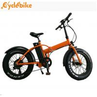20 Inch Mountain Fat Tire Foldable Electric Bike 48v 500w Bafang Motor