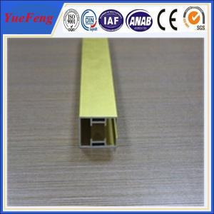 China gold surface AL6063 aluminium profile for rail sections on sale