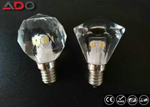 China 450lm Dimming Led Candle Lights , 4.3w 2700k Light Bulb Crystal E12 Base on sale