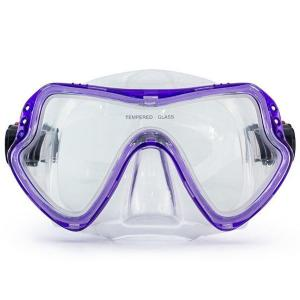 China One Piece Lens Scuba Diving Mask / Adult Diving Mask with Silicone Strap on sale