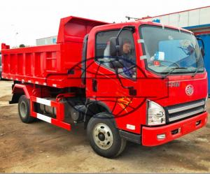 China 2 Axles 4 X 2 3.5 Ton Tipper Truck , Right Hand Driving Light Tipper Truck on sale
